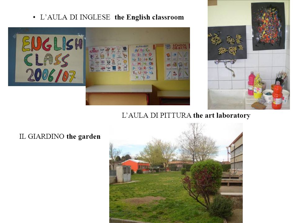 L'AULA DI INGLESE the English classroom