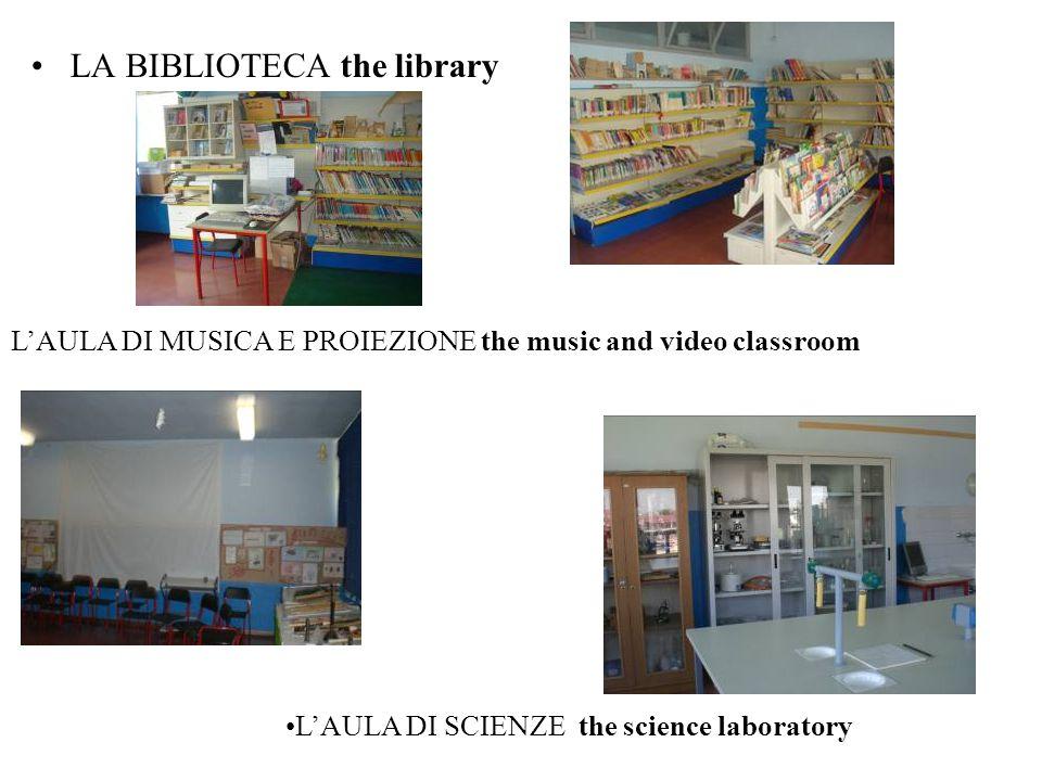 LA BIBLIOTECA the library