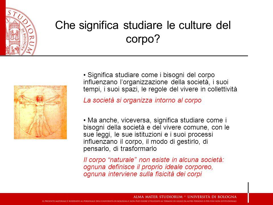 Che significa studiare le culture del corpo