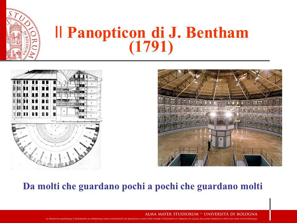 Il Panopticon di J. Bentham (1791)