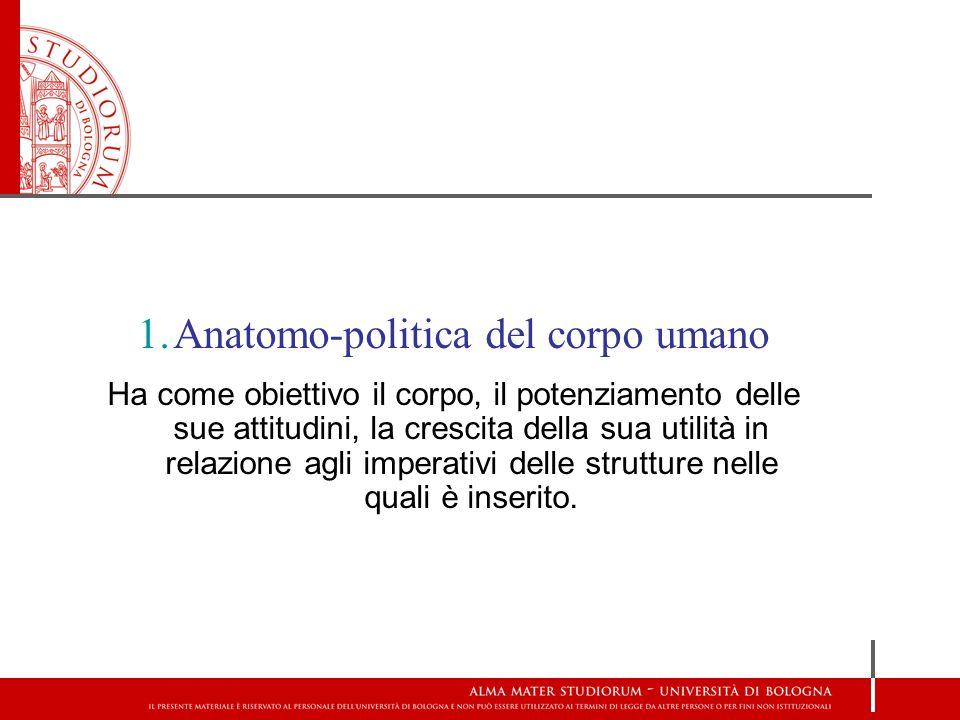 Anatomo-politica del corpo umano