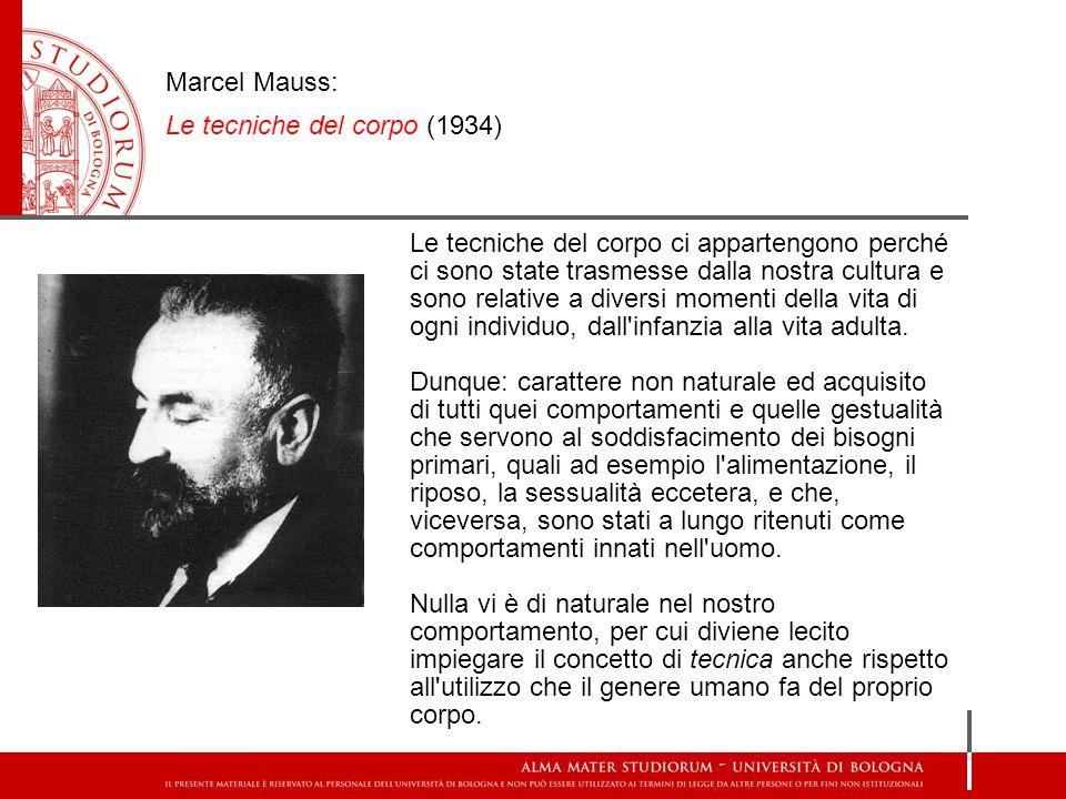 Marcel Mauss: Le tecniche del corpo (1934)