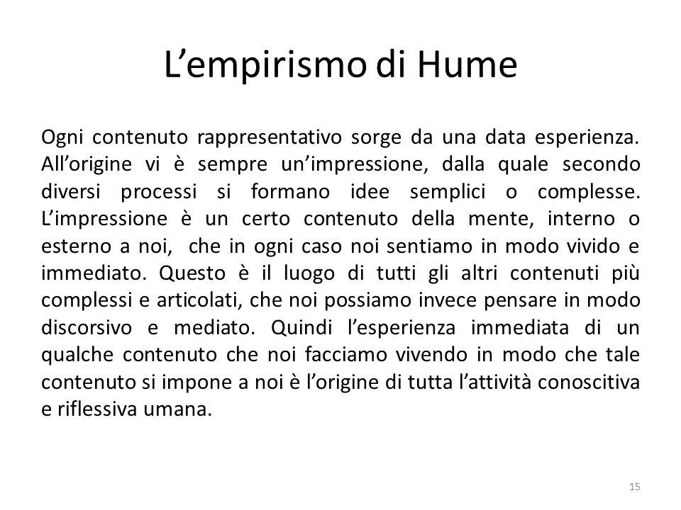 L'empirismo di Hume