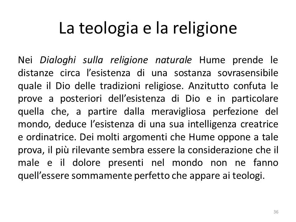 La teologia e la religione