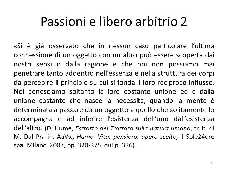 Passioni e libero arbitrio 2