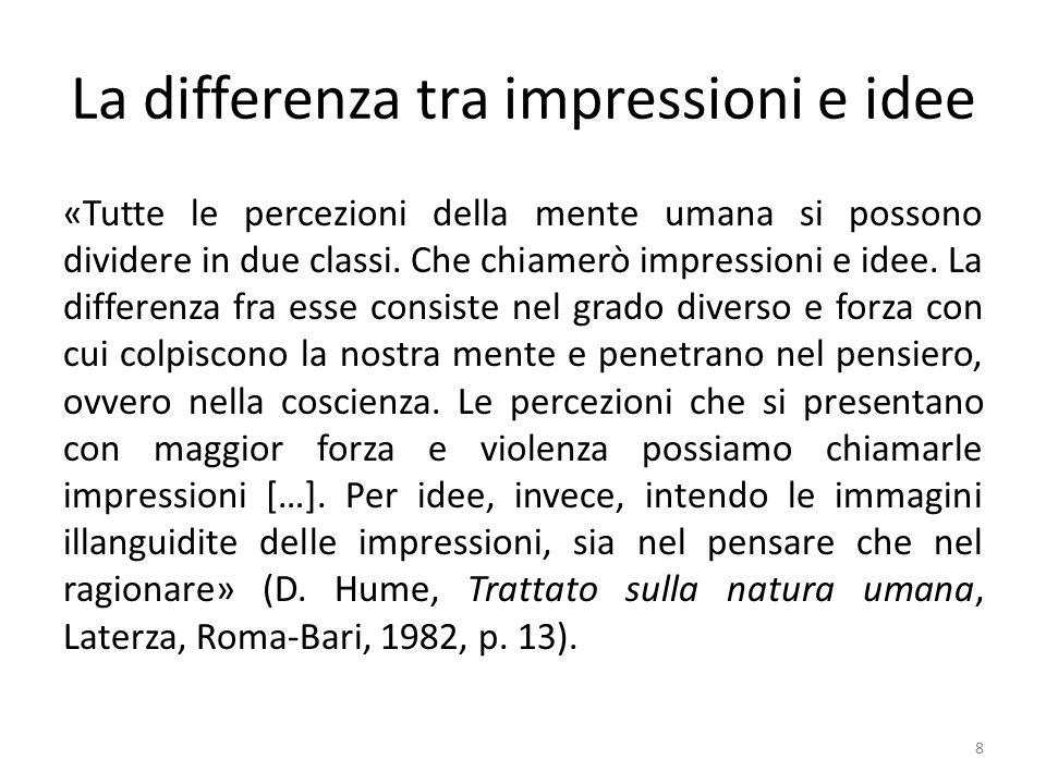 La differenza tra impressioni e idee