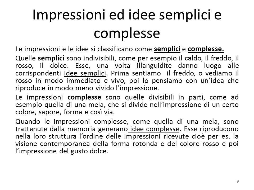 Impressioni ed idee semplici e complesse