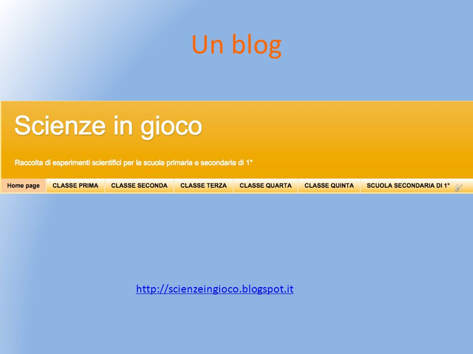 Un blog http://scienzeingioco.blogspot.it