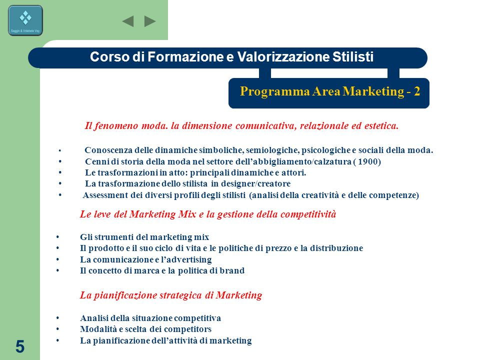 Corso di Formazione e Valorizzazione Stilisti