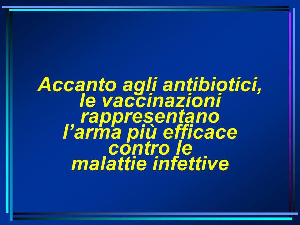 Accanto agli antibiotici, le vaccinazioni rappresentano