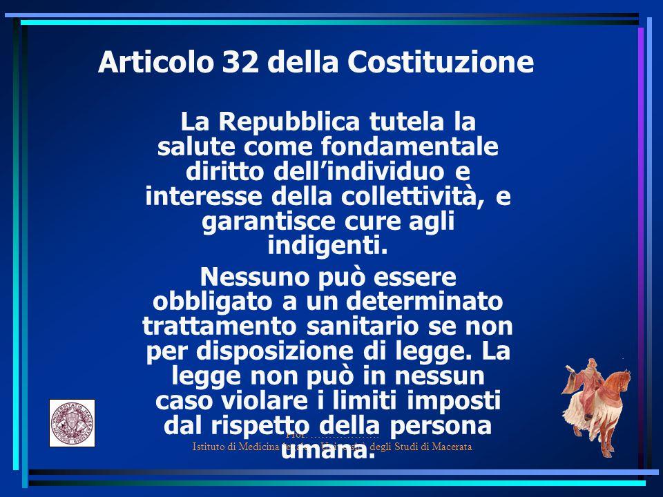 Articolo 32 della Costituzione
