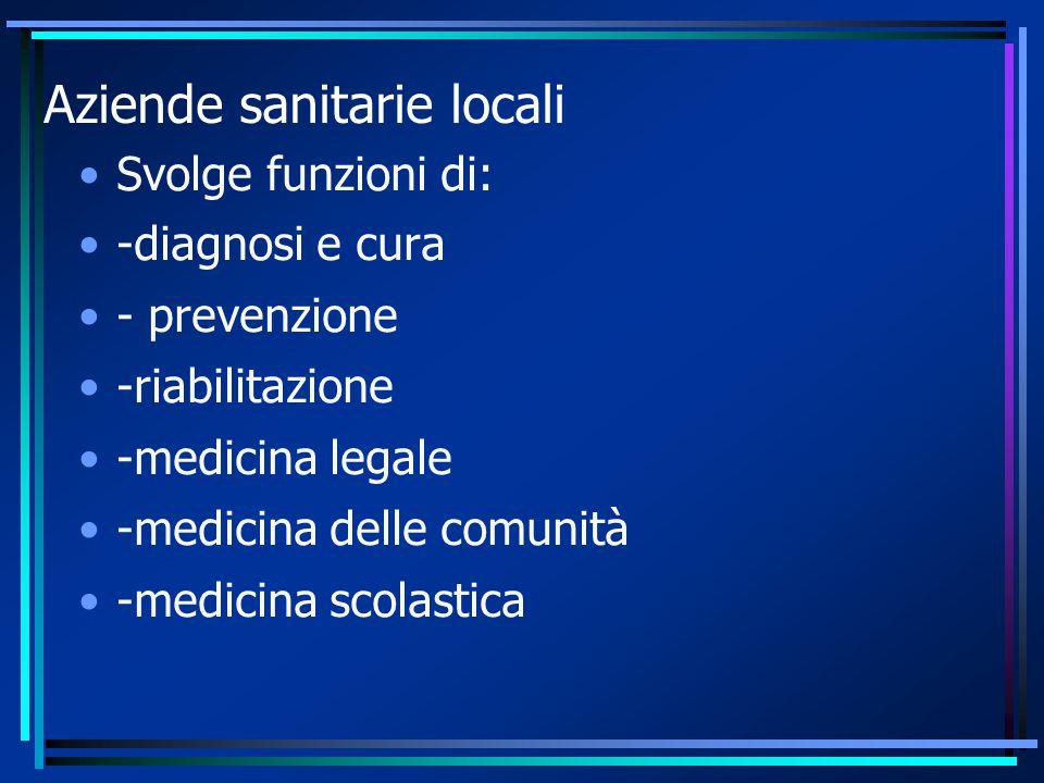 Aziende sanitarie locali