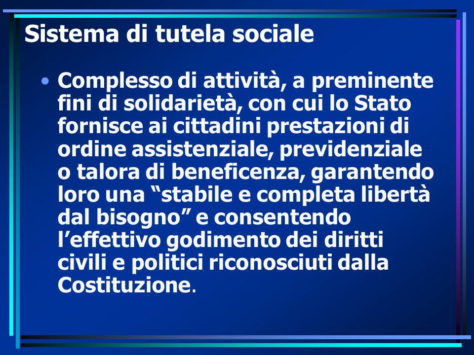 Sistema di tutela sociale