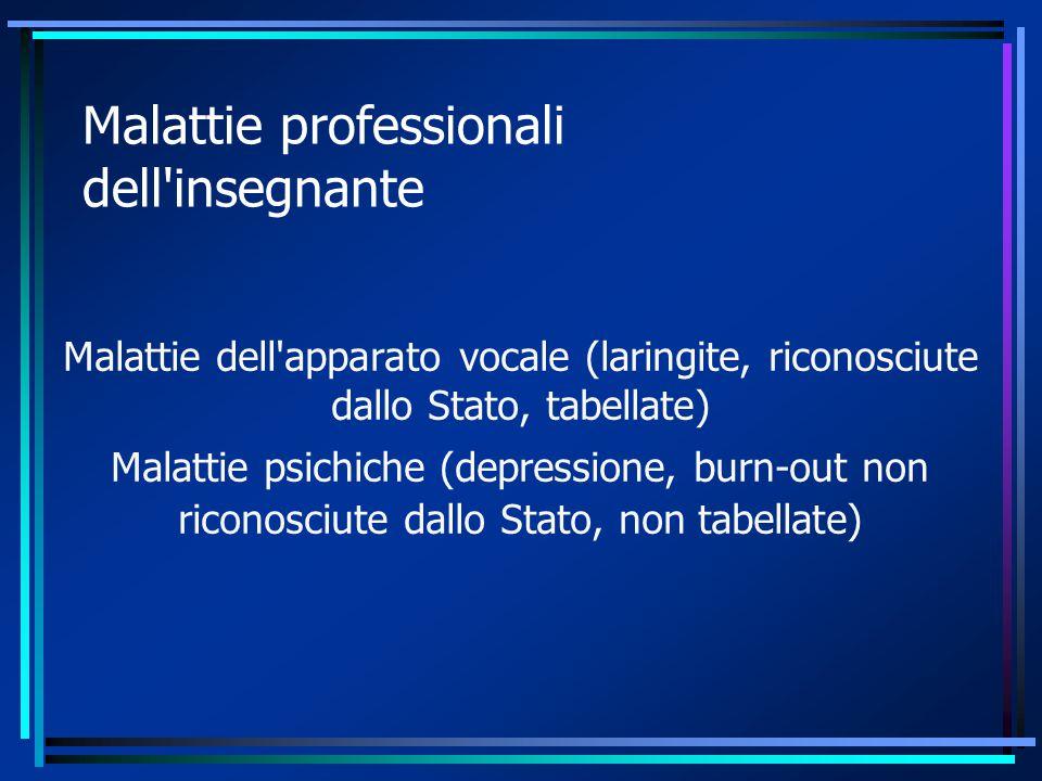 Malattie professionali dell insegnante