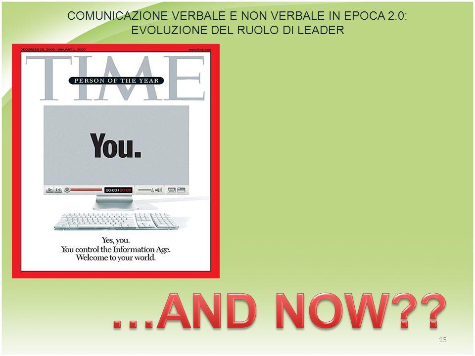 COMUNICAZIONE VERBALE E NON VERBALE IN EPOCA 2