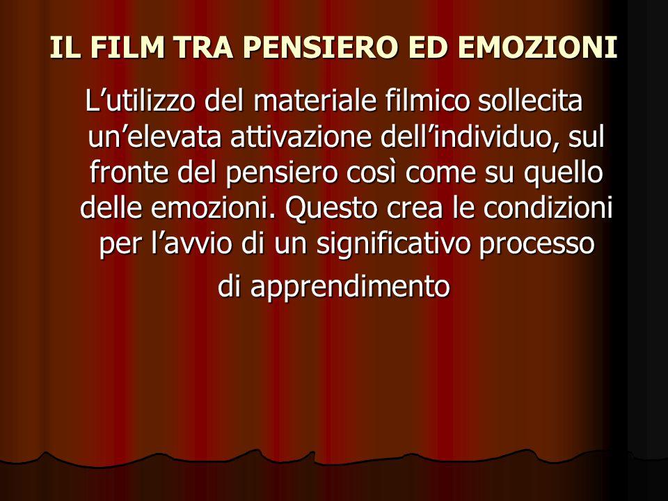 IL FILM TRA PENSIERO ED EMOZIONI