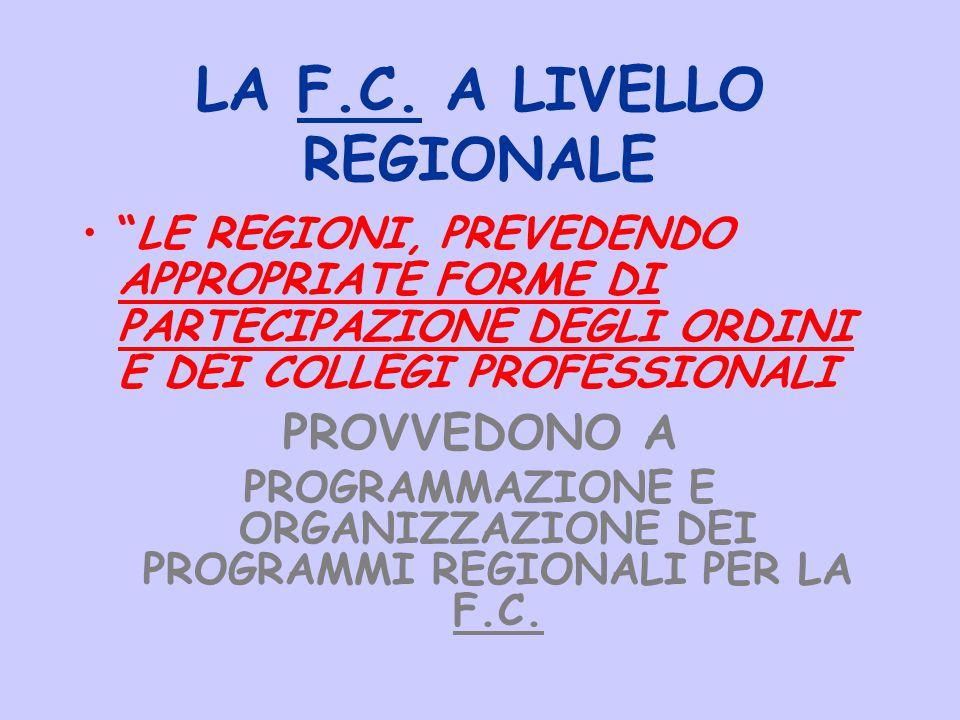 LA F.C. A LIVELLO REGIONALE
