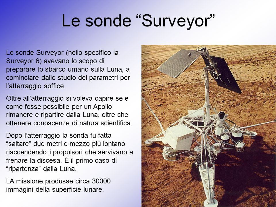 Le sonde Surveyor
