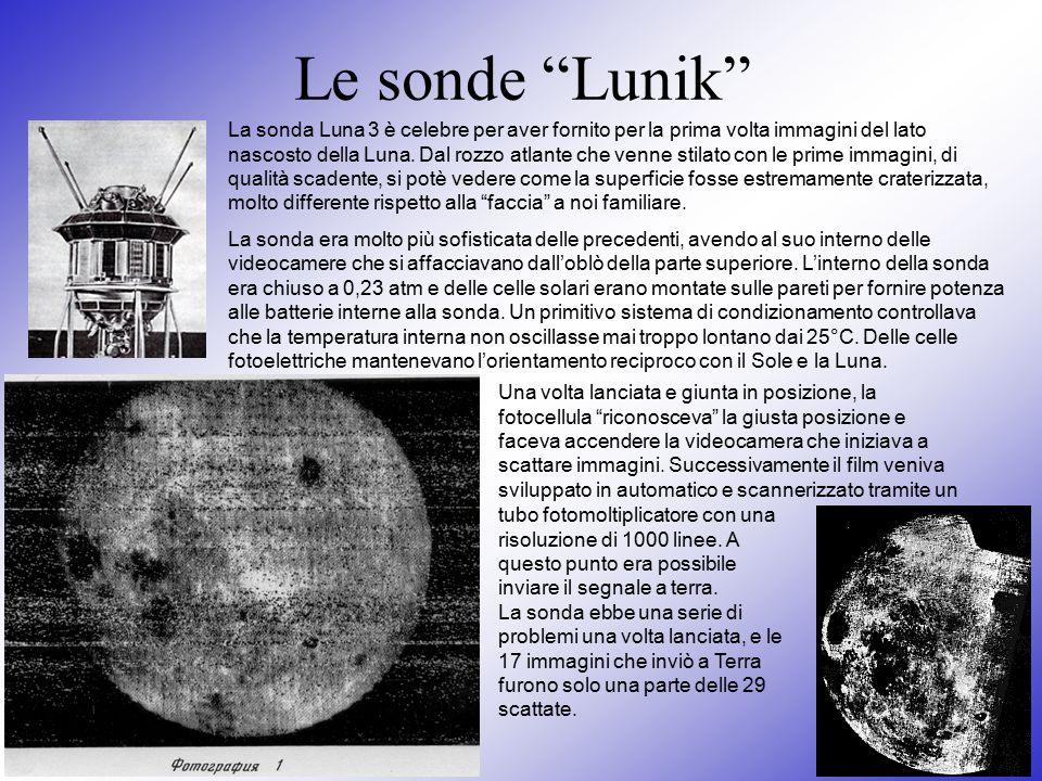 Le sonde Lunik