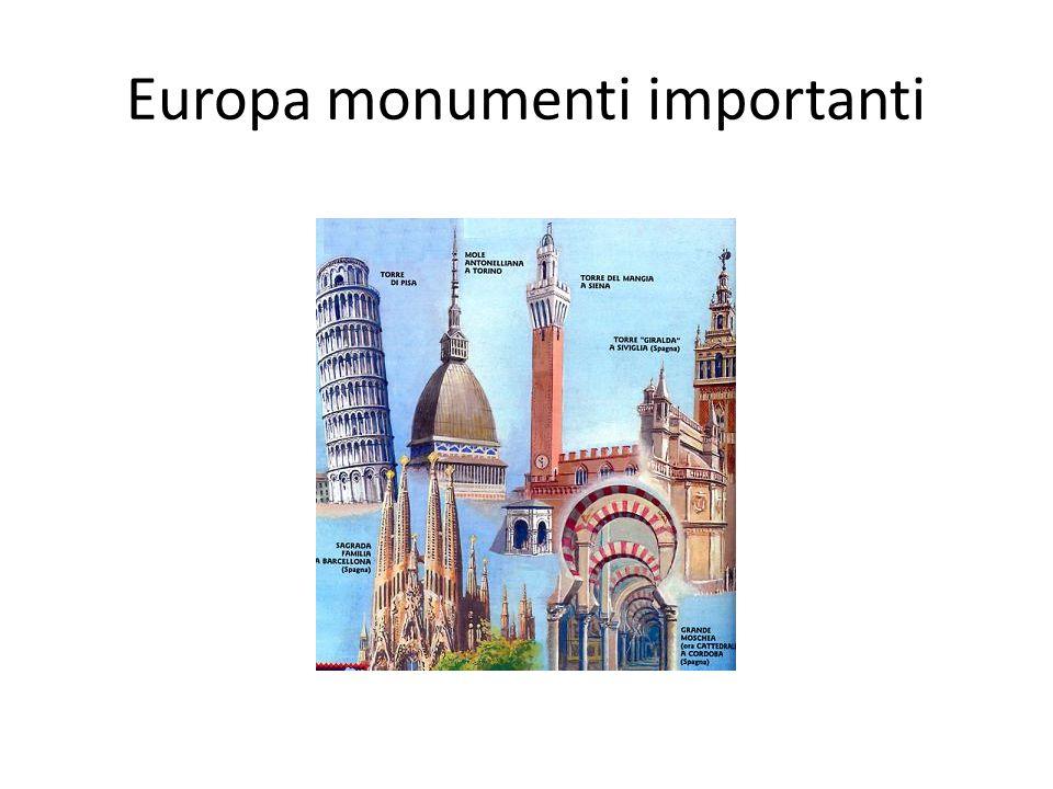 Europa monumenti importanti