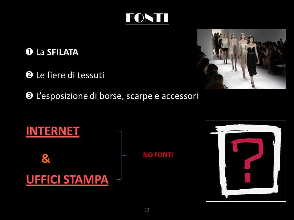 FONTI INTERNET & UFFICI STAMPA  La SFILATA  Le fiere di tessuti