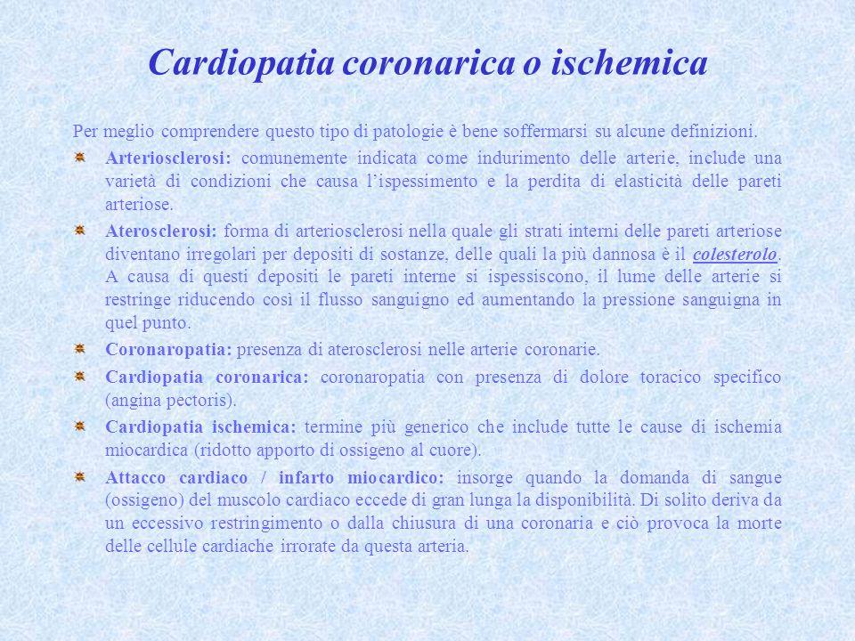 Cardiopatia coronarica o ischemica