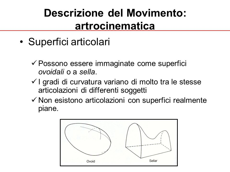 Descrizione del Movimento: artrocinematica
