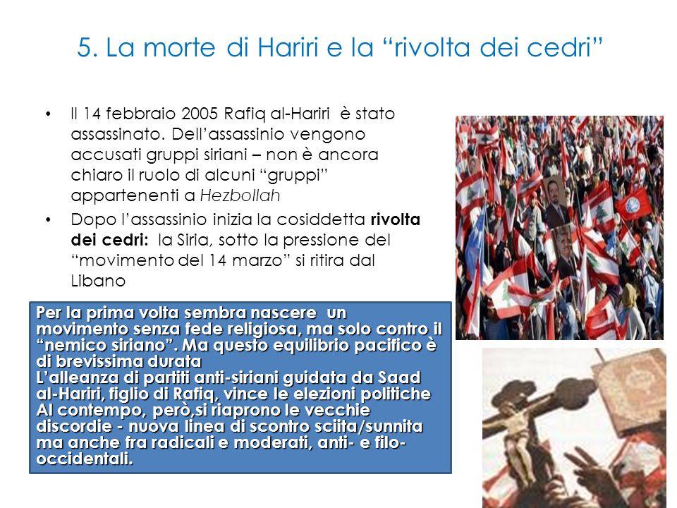 5. La morte di Hariri e la rivolta dei cedri