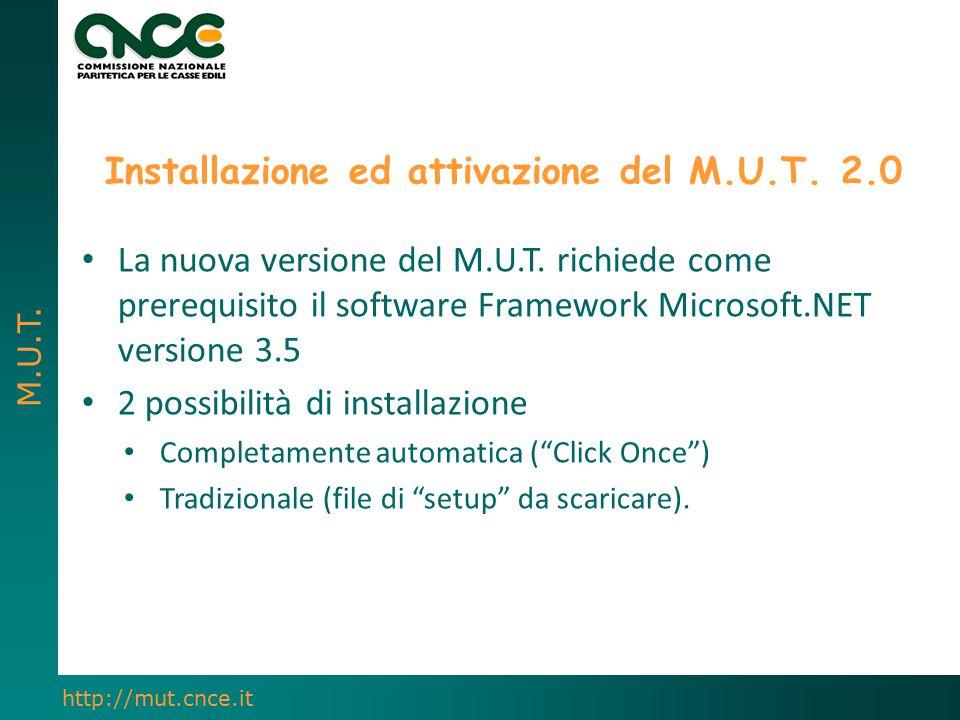 Installazione ed attivazione del M.U.T. 2.0