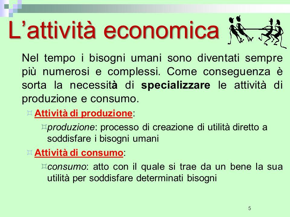L'attività economica