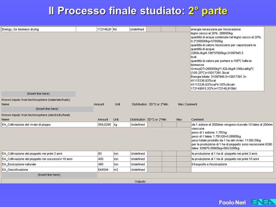 Il Processo finale studiato: 2° parte
