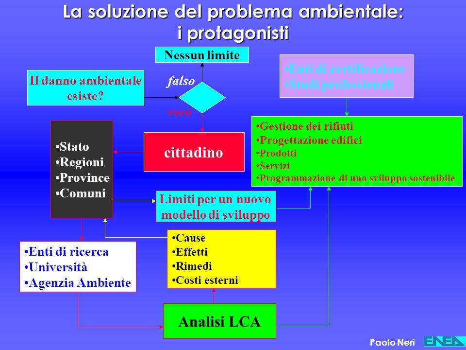 La soluzione del problema ambientale: i protagonisti