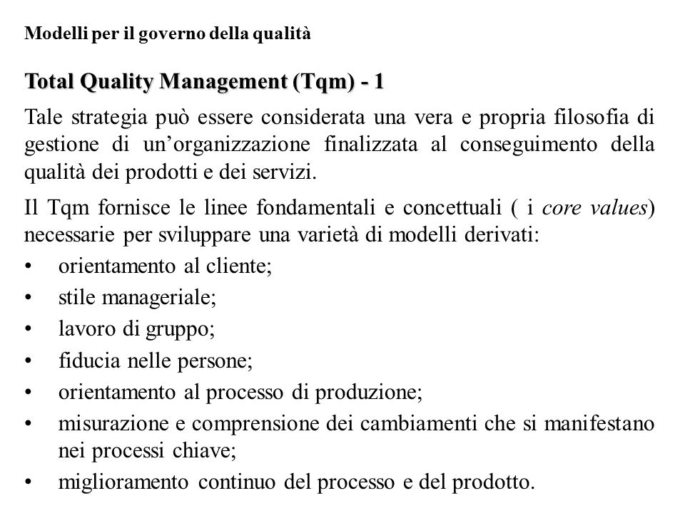 Total Quality Management (Tqm) - 1