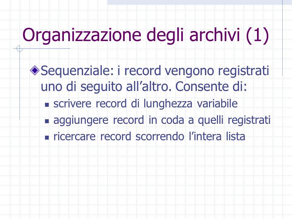 Organizzazione degli archivi (1)