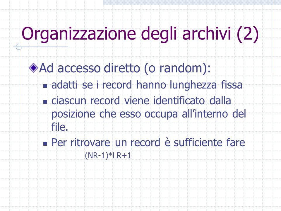 Organizzazione degli archivi (2)