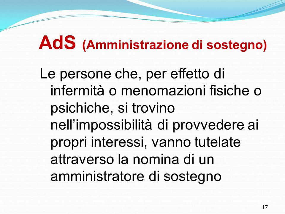 AdS (Amministrazione di sostegno)