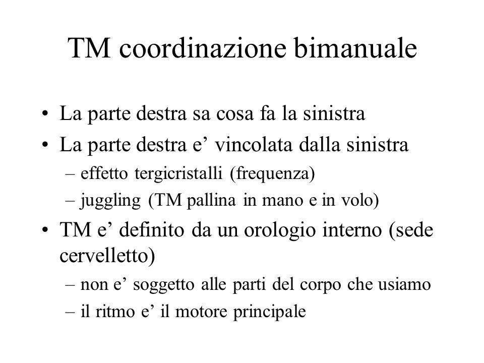 TM coordinazione bimanuale