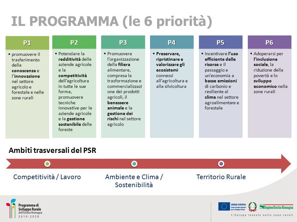 IL PROGRAMMA (le 6 priorità)