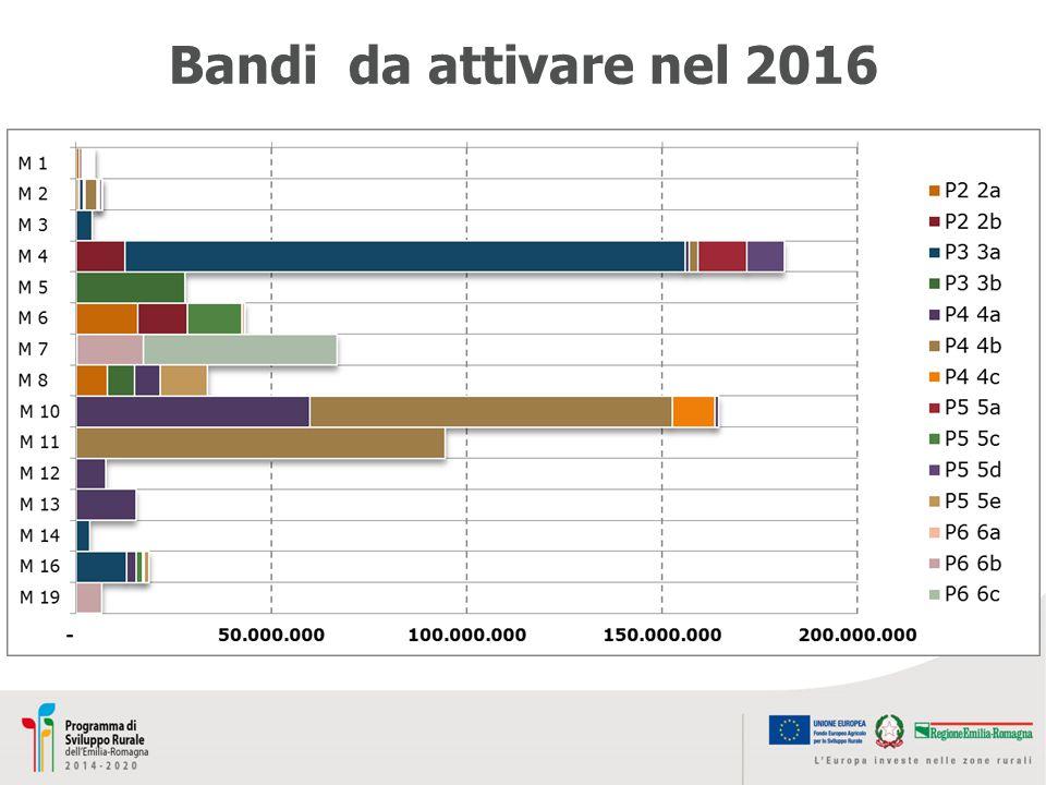 Bandi da attivare nel 2016