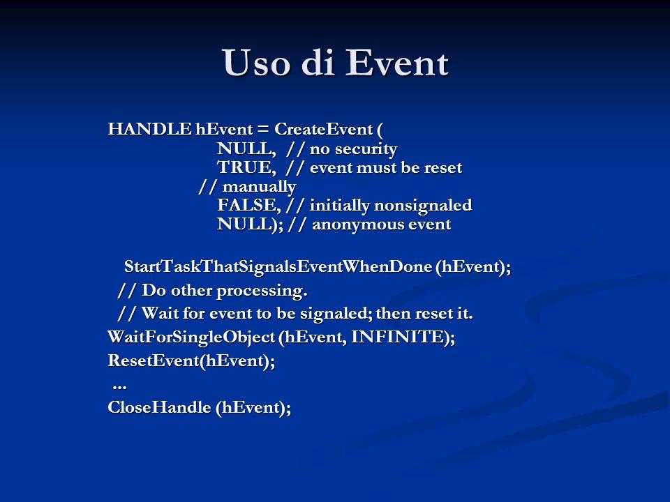 Uso di Event