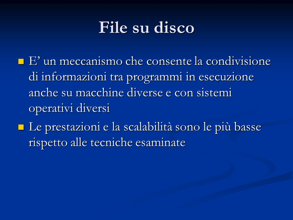File su disco