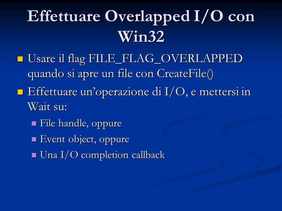 Effettuare Overlapped I/O con Win32