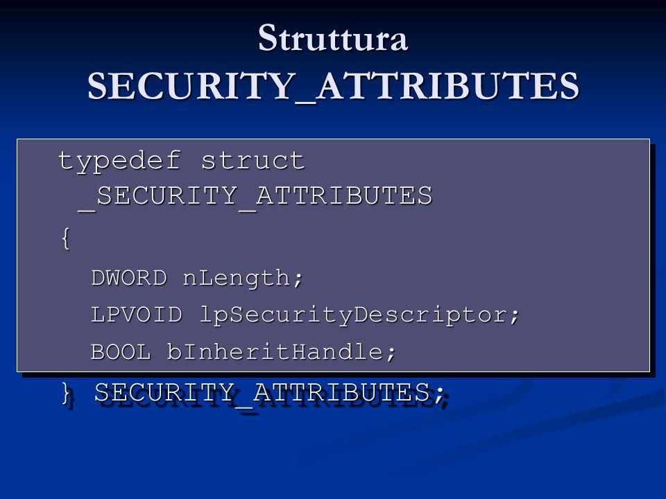 Struttura SECURITY_ATTRIBUTES