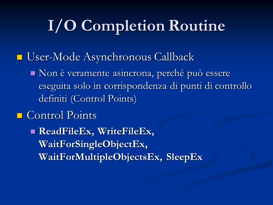 I/O Completion Routine