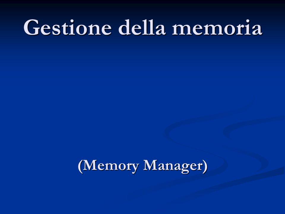 Gestione della memoria (Memory Manager)