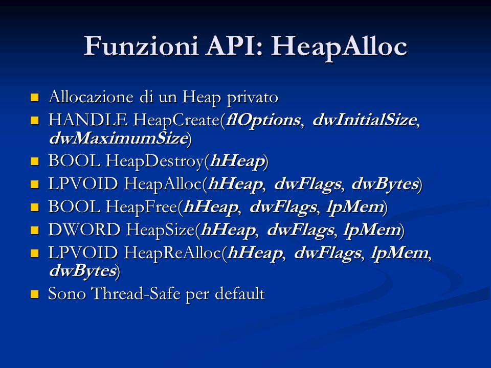 Funzioni API: HeapAlloc