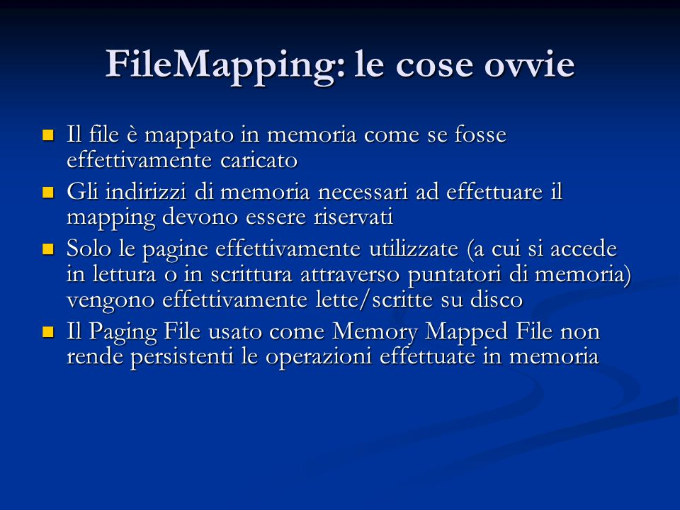 FileMapping: le cose ovvie
