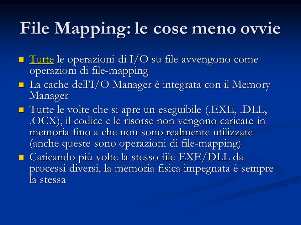 File Mapping: le cose meno ovvie