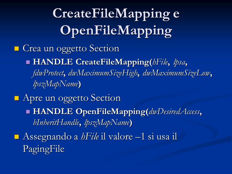 CreateFileMapping e OpenFileMapping