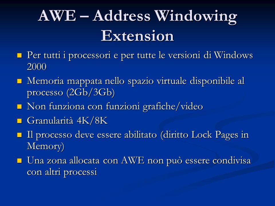 AWE – Address Windowing Extension